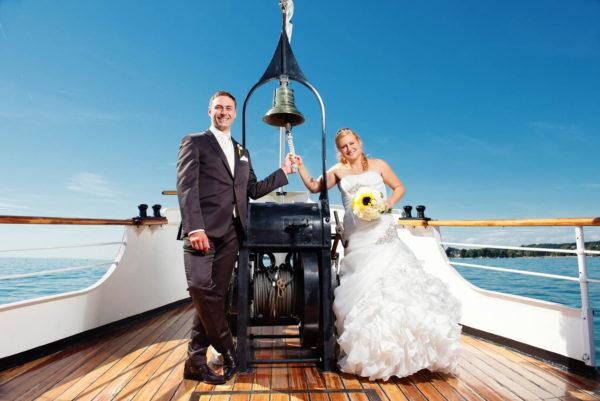 Hochzeit auf Dampfschiff Hohentwiel Nadja & Martin